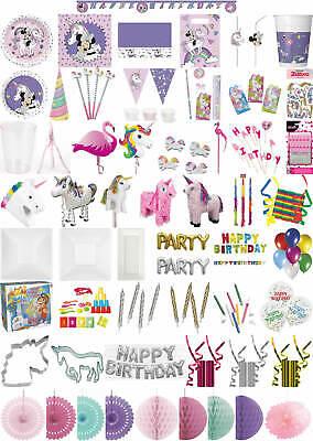 Kinder-Geburtstag Party Deko Feier Fete Motto Minnie Mouse Einhorn