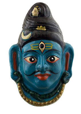 Mask Nepalese Lord Shiva Indra Jatra Festival Nepal Paper Mache 35 cm 3587 W1