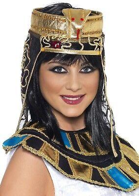 Damen Gold Schlange Ägyptische Kleopatra Kopfschmuck Kostüm Verkleidung Zubehör ()