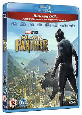 Marvels Black Panther 3D  Br3d  2D Blu Ray  Region Free Superheroes Action  New