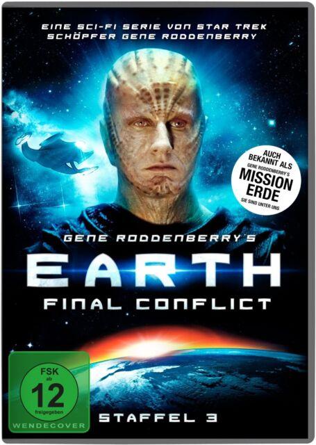 EARTH:FINAL CONFLICT - GENE RODDENBERRY'S -STAFFEL 3 6 DVD NEU