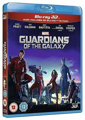 Guardians Of The Galaxy Volume 1 3D Blu Ray 3D   2D Brand New Free Ship