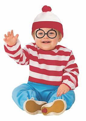 Waldo Where's Wally Book Striped Fancy Dress Up Halloween Toddler Child Costume