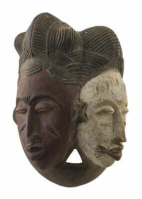 Mask African Ekoi Janus Nigeria 28 cm Art First 16731