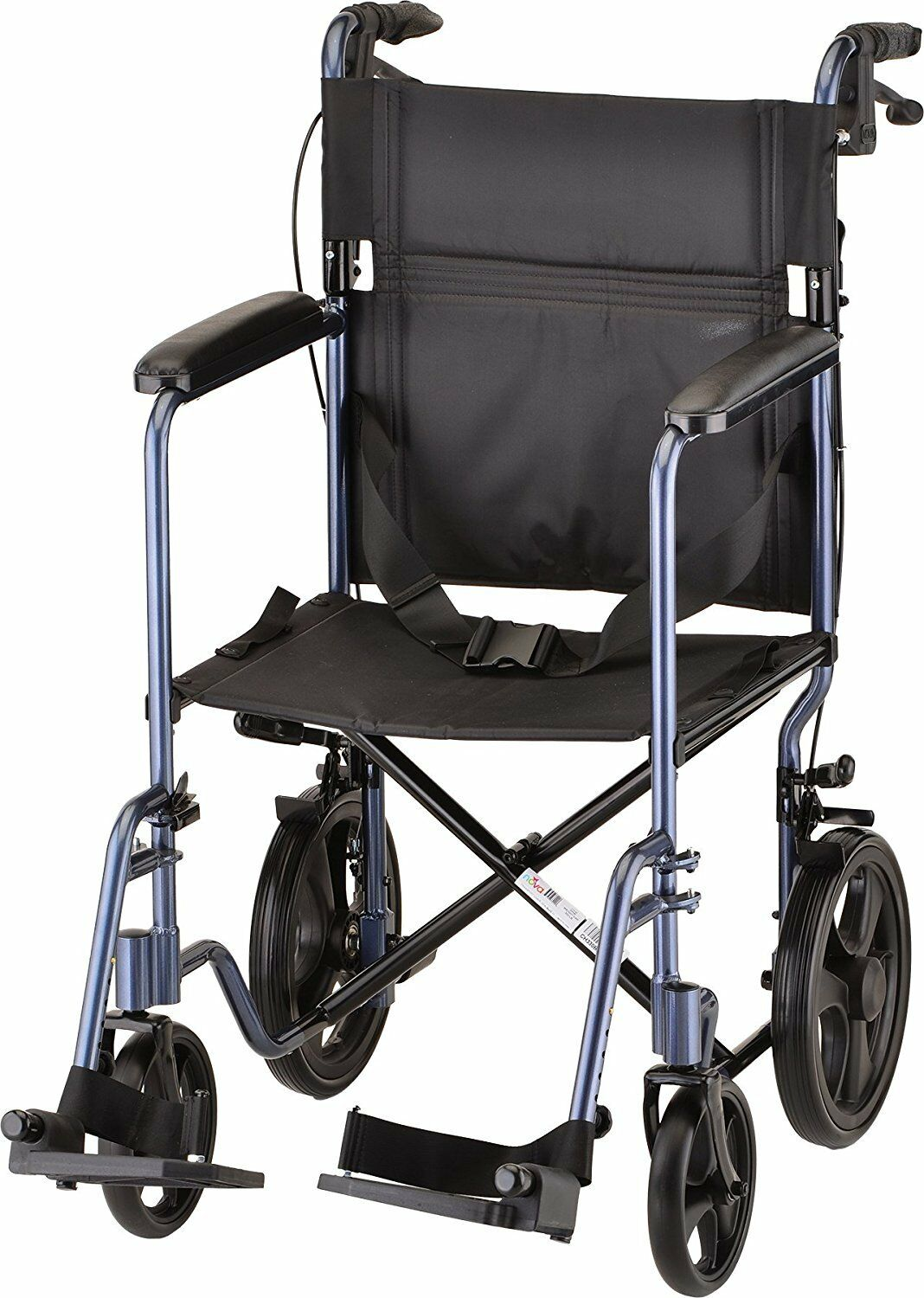 NOVA Medical Lightweight Transport Chair with Locking Hand B