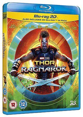 Thor  Ragnarok  3D   2D Blu Ray  2 Discs  Region Free   New Sealed