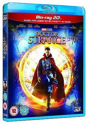 Marvels Doctor Strange  3D   2D Blu Ray  2 Discs  Region Free   New Sealed