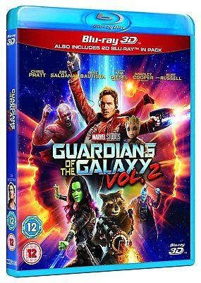Guardians Of The Galaxy Vol  2 3D  Blu Ray 3D   2D  Marvel Volume Two Movie