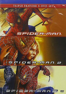 Spider Man   Spider Man 2   Spider Man 3  Dvd  2010  3 Disc Set