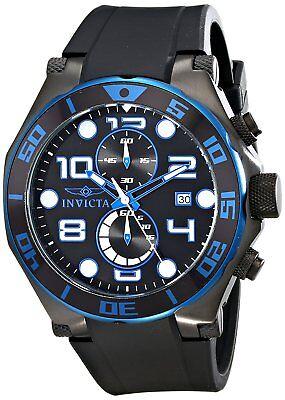Invicta Men's 17816 Pro Diver Chronograph 50mm Black Dial Black Rubber Watch