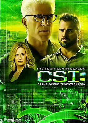 Csi Crime Scene Investigation Complete Season 14 Fourteen   New 6 Disc Dvd Set