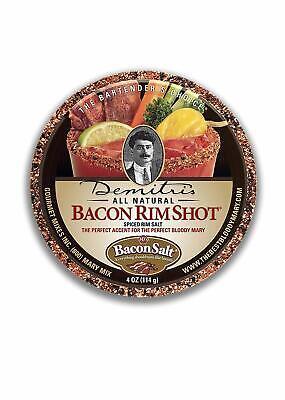 Demitri's Bacon Flavored Bloody Mary Rim Salt- Cocktail Drink Garnish Bar -