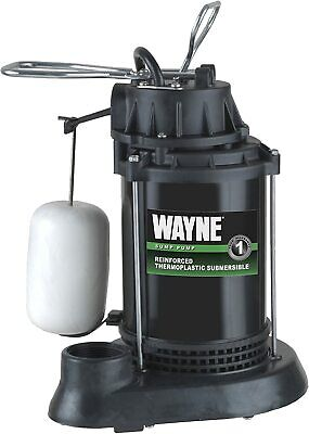 Wayne Spf33 13 Hp Thermoplastic Sump Pump W Integrated Vertical Float Switch
