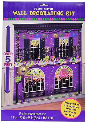 Mardi Gras Party Scene Setters Wall Decorating Kit - Mardi Gras Scene Setter