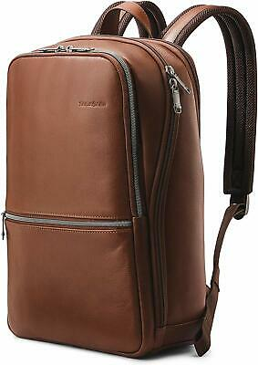 Samsonite Slim Leather Backpack Brown 126036-1221