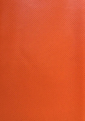 - Vinyl Faux Leather Perforated orange commercial grade upholstery fabric 55