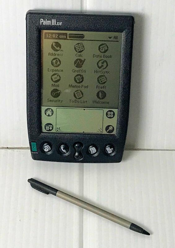 Vintage Palm Pilot IIIxe Handheld Organizer PDA