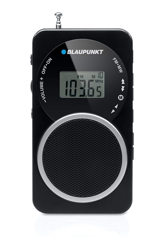 Blaupunkt BD-20 kleines tragbares Radio FM Pocket digitales PLL Radio schwarz