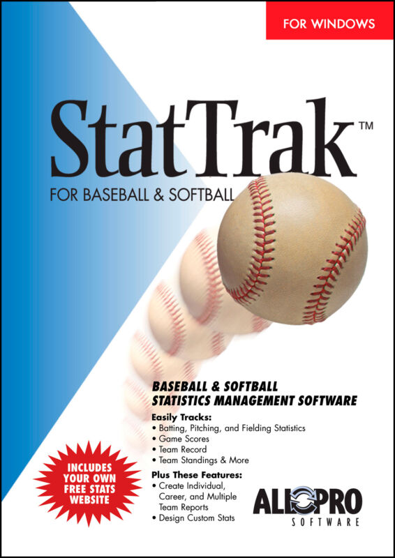 StatTrak for Baseball & Softball - baseball stats software
