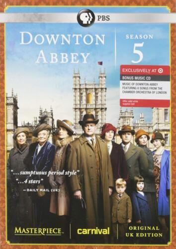 Masterpiece Classic: Downton Abbey - Season 5 (DVD, 2015, 3-Disc) NEW Target