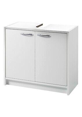 Badmöbel Badezimmer Waschbeckenunterschrank Waschtisch Unterschrank Weiß 2 Türen