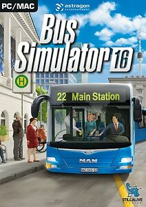 Bus Simulator 2016 PC MAC DVD NEW & SEALED BOXED GAME ENGLISH FREE DELIVERY