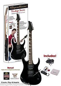 Spectrum-AIL-75V-B-Vintage-Series-Shark-Style-Electric-Guitar-Pack-Black