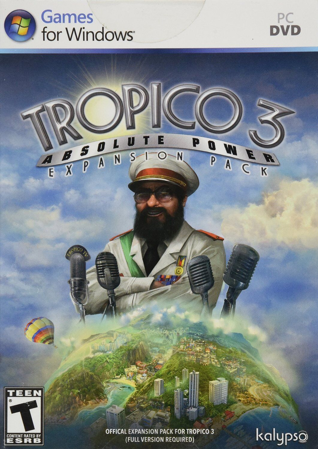 Computer Games - Tropico 3 Absolute Power PC Games Windows 10 8 7 XP Computer expansion pack