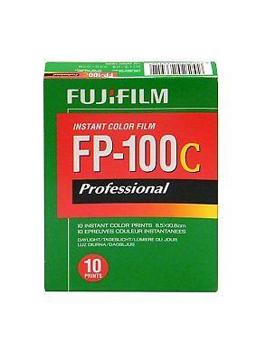 Fujifilm Fuji FP-100C Instant Color Film 10 Exposures Glossy Fuji films 10/2018