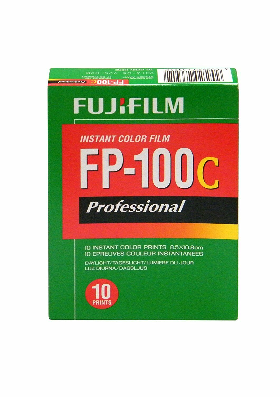 Fujifilm Fuji FP-100C Instant Color Film 10 Exposures Glossy Fuji films 10/2018