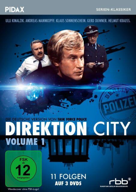 Direktion City Vol. 1 * DVD 11 Folgen Krimiserie Pidax Serien-Klassiker Neu Ovp