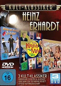 HEINZ-ERHARDT-Gunther-Philipp-RUDI-CARRELL-Juhnke-CHRIS-ROBERTS-3-Box-DVD-NUOVO