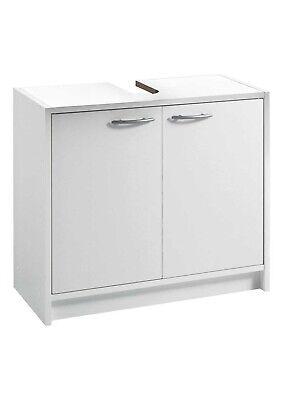 Badmöbel Waschbeckenunterschrank Badezimmerschrank Unterschrank Weiß 2 Türen
