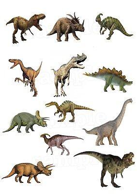 Jurassic World Dinosaurier Eßbar Tortenaufleger Muffinaufleger Party Deko neu