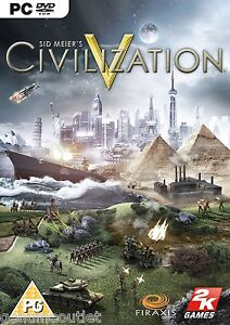 SID MEIER'S CIVILIZATION V 5 for (PC DVD) SEALED NEW