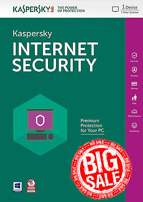 Kaspersky Internet Security 2018 1 PC / User / 1 Year / Antivirus / Download ESD, used for sale  Shipping to South Africa