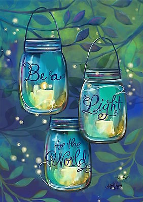 "Be A Light Spring Garden Flag Inspirational Candles 12.5"" x 18"""