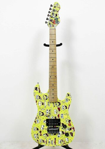 Spongebob Electric Guitar Outfit With Mini Amp & Bag 7/8 Size Solid Body Z00
