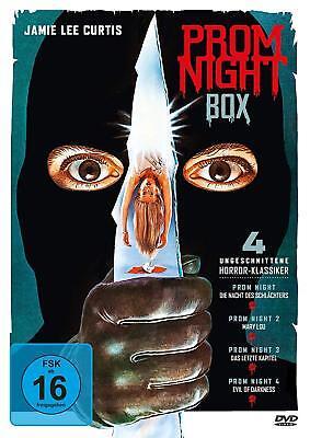 Uncut PROM NIGHT - BOX Teil 1 2 3 4 JAMIE LEE CURTIS 4 DVD Promnight Neu
