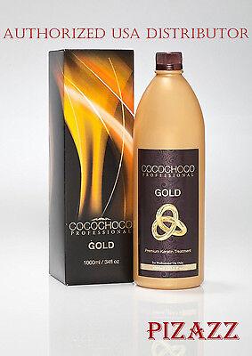 COCOCHOCO Gold keratin hair straightening treatment 33.8 oz /1000 ml 24k liquid