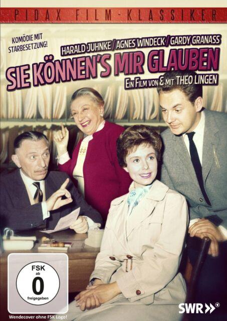 Sie können's mir glauben - DVD Komödie Theo Lingen Harald Juhnke Pidax Film Neu