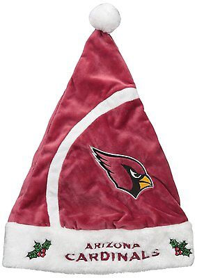 ARIZONA CARDINALS FOREVER COLLECTIBLES NFL OSFM HOLIDAY SANTA HAT CAP NEW NWT