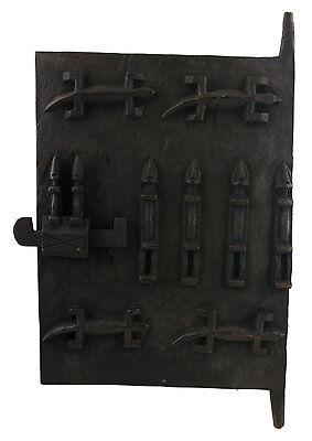Door Dogon Attic Mali 64x38 cm Flap Art African West Africa 16524 Hg 1