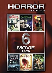 6 HORROR RETURN LIVING DEAD 3 BRIDE OF REANIMATOR BEYOND NIGHT THE 3D ZOMBIE DVD