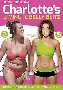 Charlotte Crosby's 3 Minute Belly Blitz DVD R4 Fitness New Geordie Shore Star