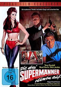 Die drei Supermänner räumen auf - DVD Film Brad Harris Tony Kendall Pidax Neu Ov