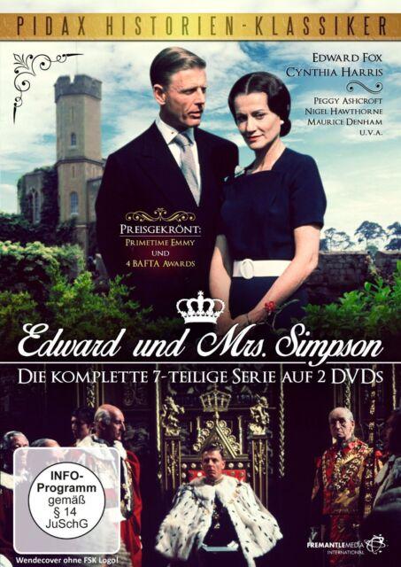 Edward und Mrs. Simpson * DVD preisgekrönter 7-Teiler Pidax Neu Ovp