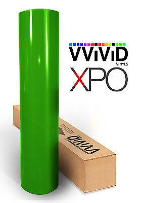"Vvivid 3"" x 4"" sample lime green gloss 3mil vinyl car wrap"