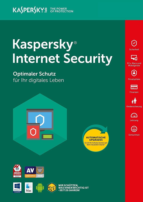 Kaspersky Internet Security 2018 ( 1PC, 2PC, 3PC, 5PC,10PC / Geräte | 1/2 Jahr )