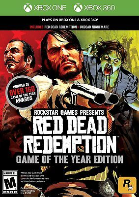 RED DEAD REDEMPTION GOTY  (XBOX ONE & 360, 2011) (0071)    FREE SHIPPING USA